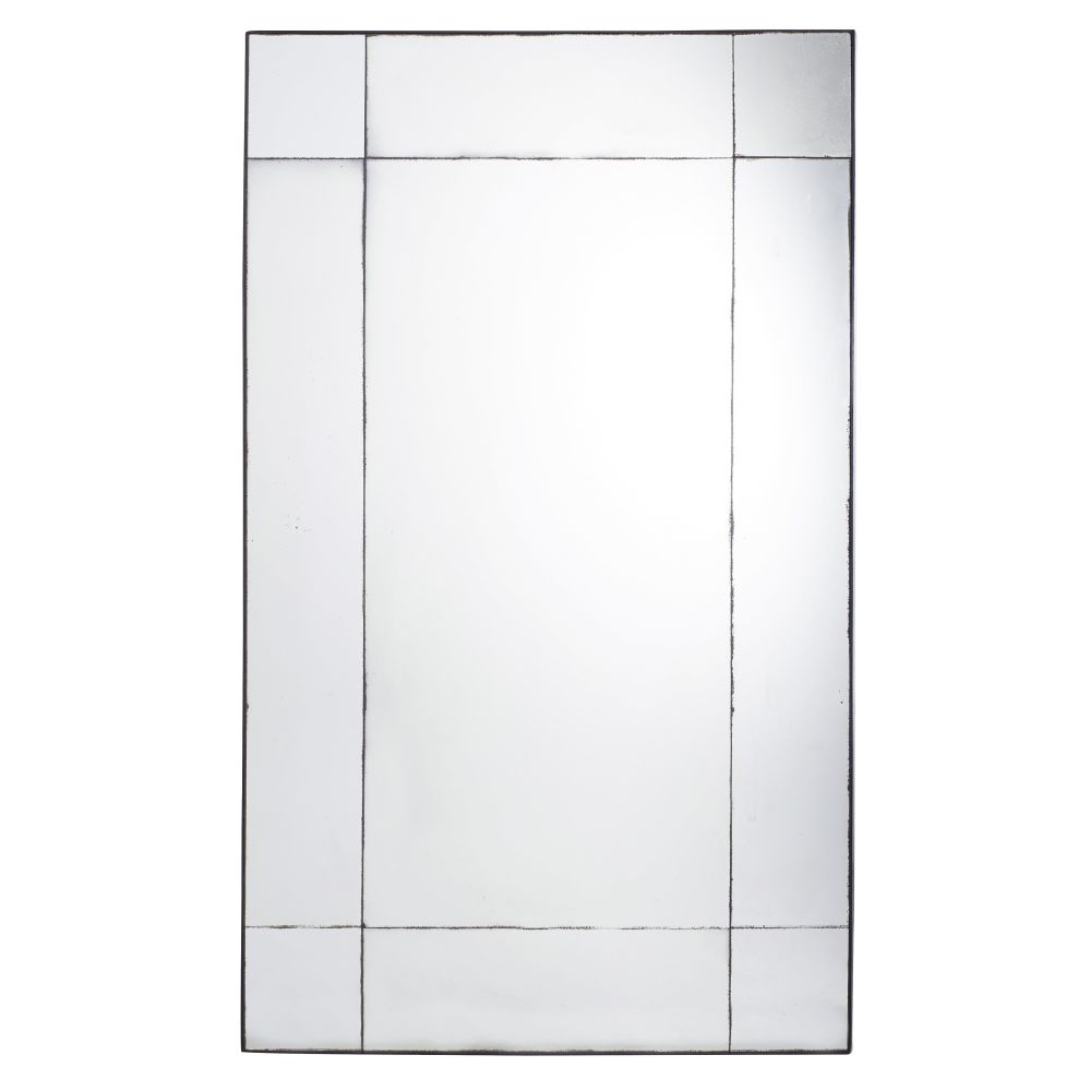 Miroir en métal noir effet vieilli 100x161