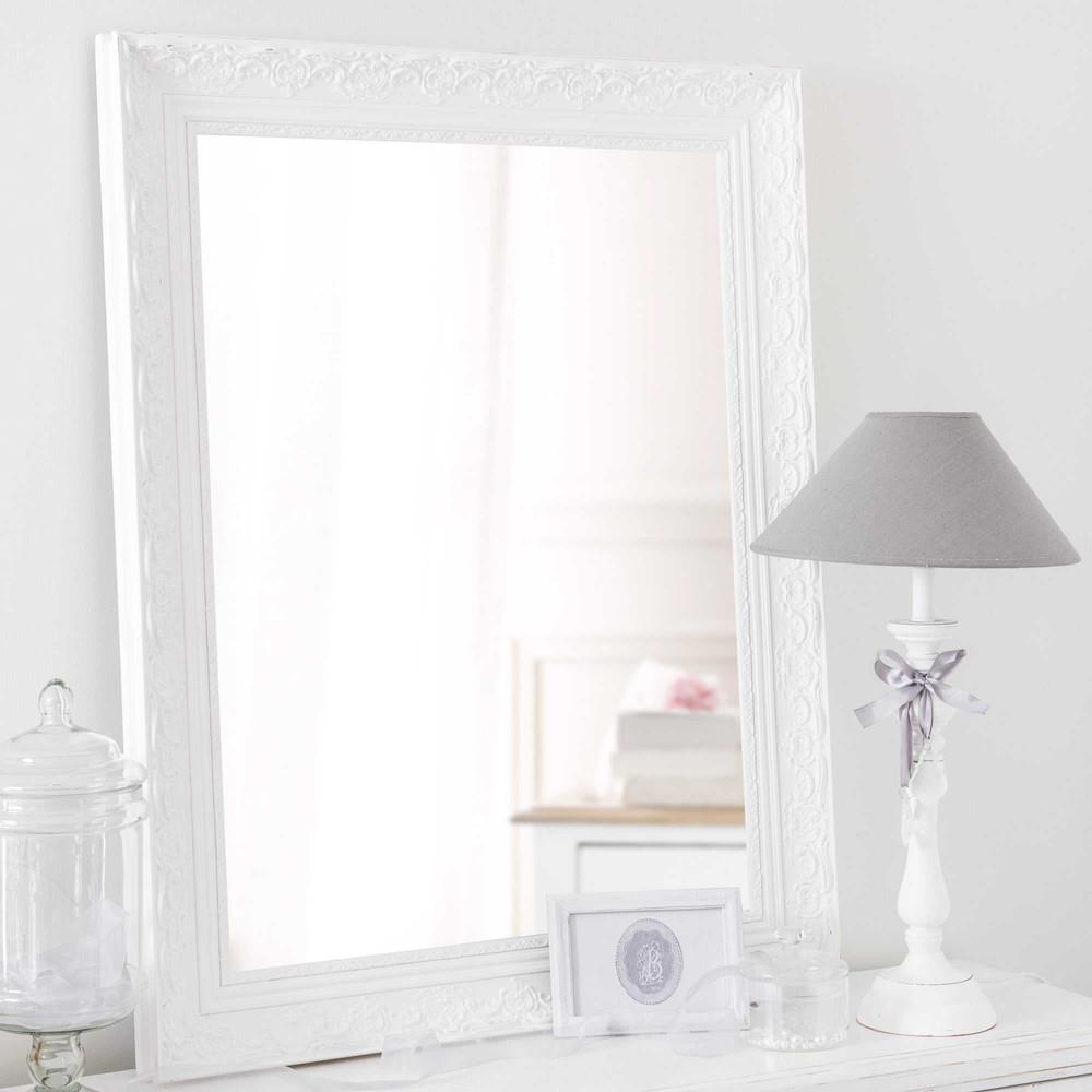 Miroir en paulownia blanc 70x90