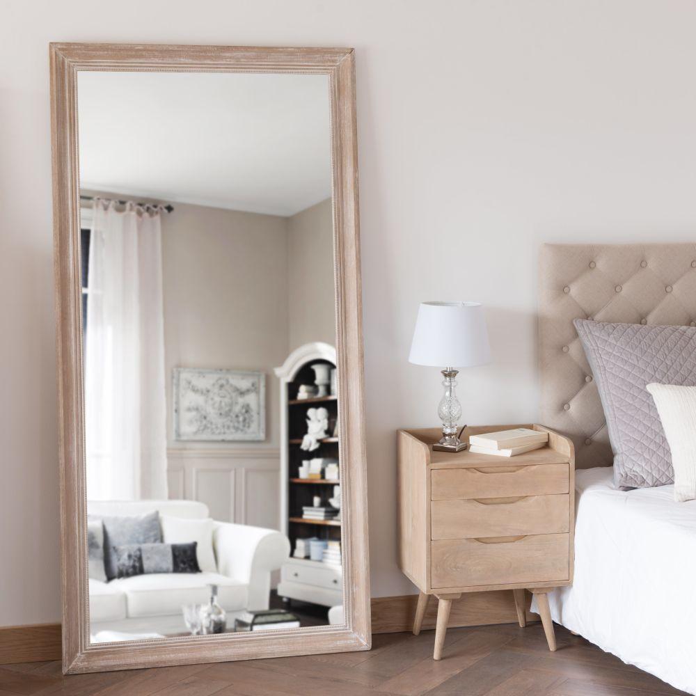 Miroir en paulownia blanchi 90x180