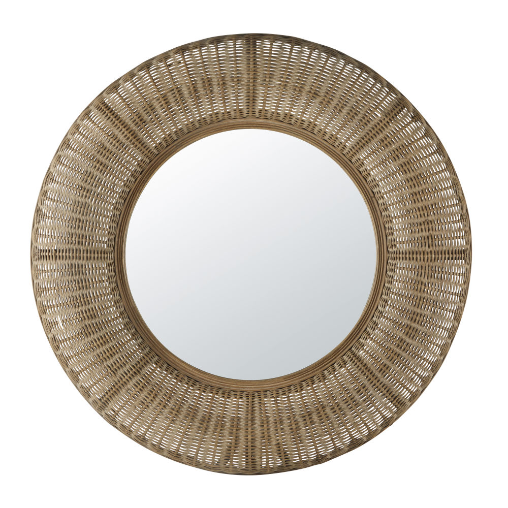 Miroir en rotin D100