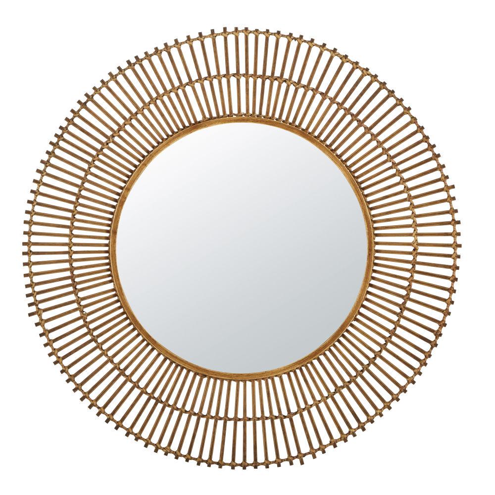 Miroir en rotin D101