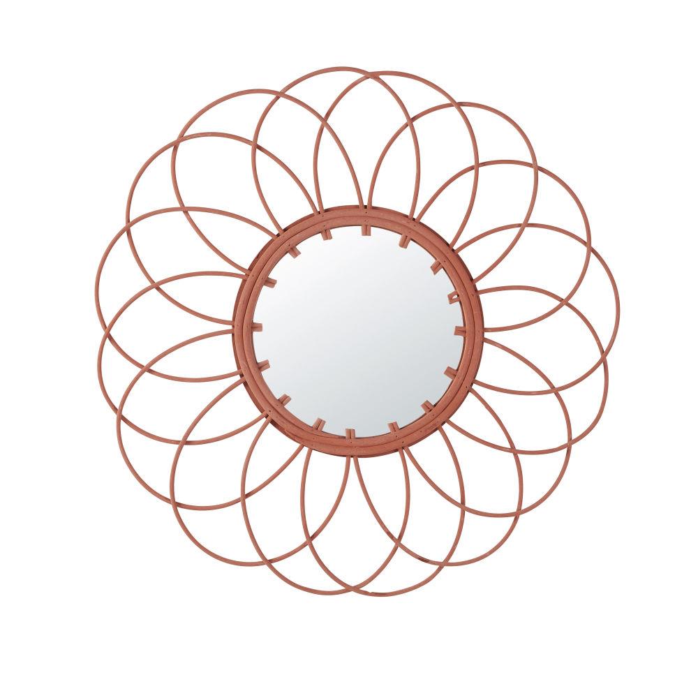 Miroir En Rotin Rose D50