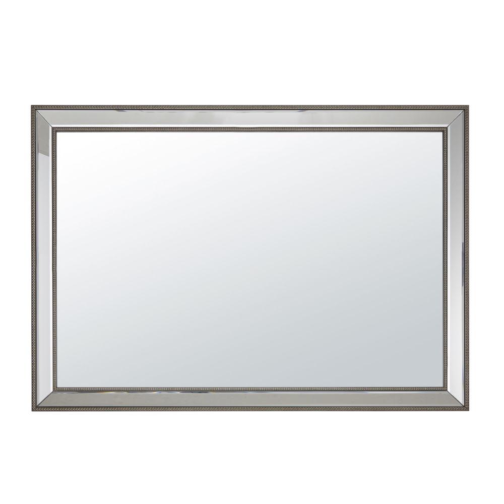 Miroir encadrement perlé 70x100