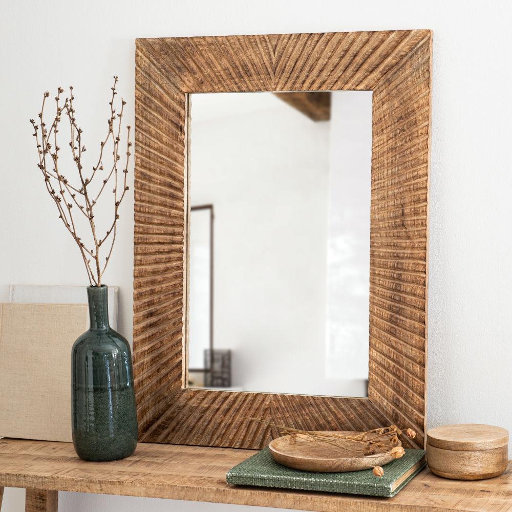 Miroir gravé 80x70