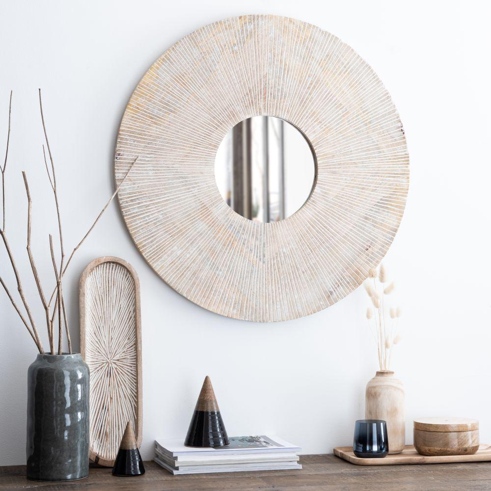 Miroir marron et écru D70