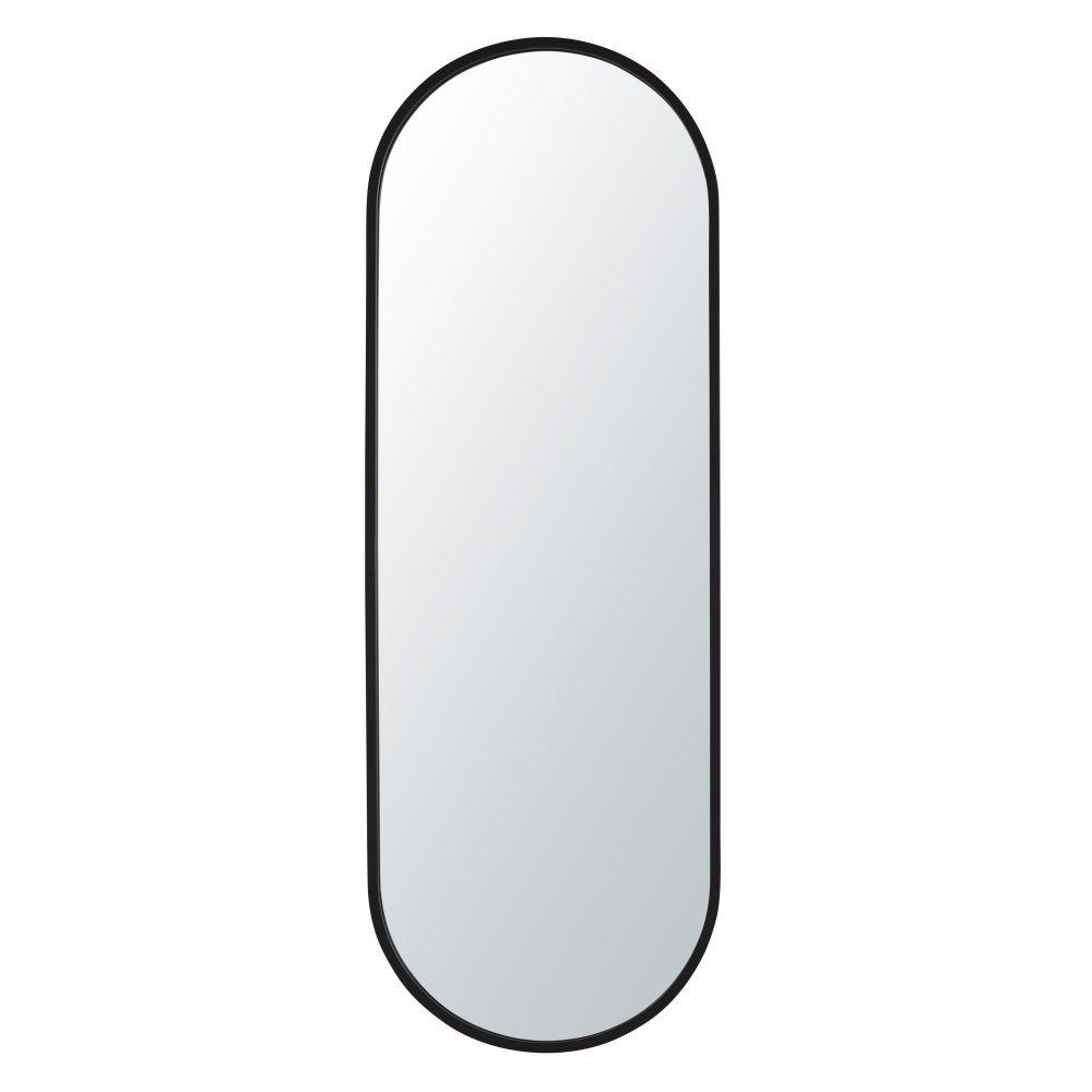 Miroir ovale en métal noir 41x120