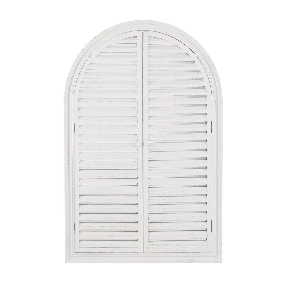Miroir persiennes en paulownia blanc 80x120