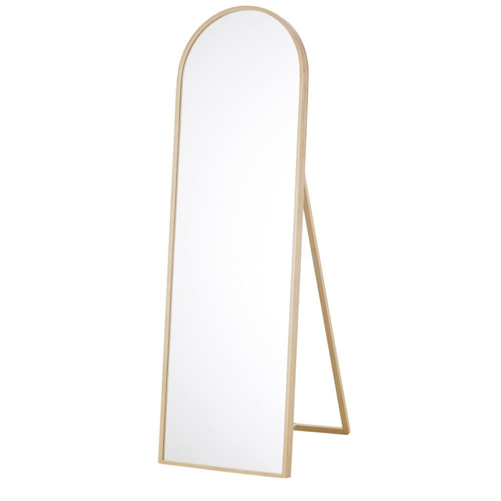 Miroir psyché en métal beige 45x140
