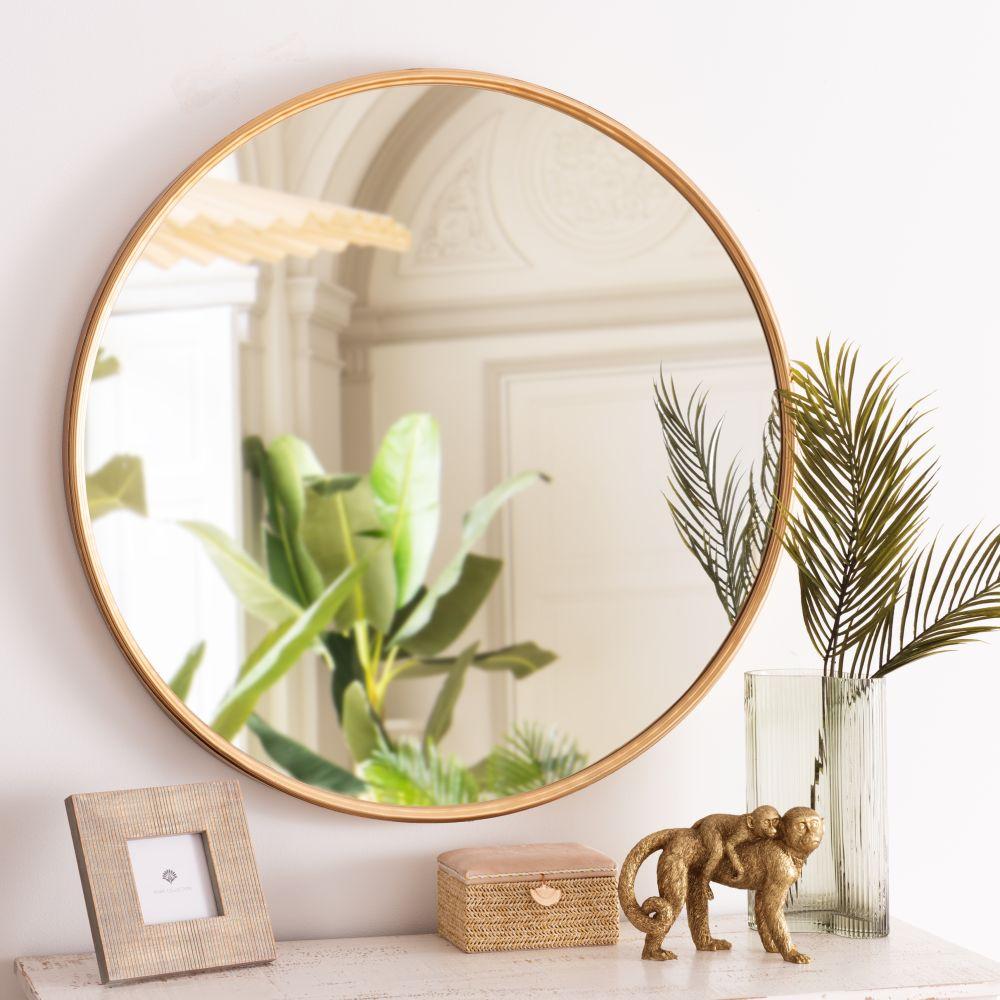 Miroir rond doré D81
