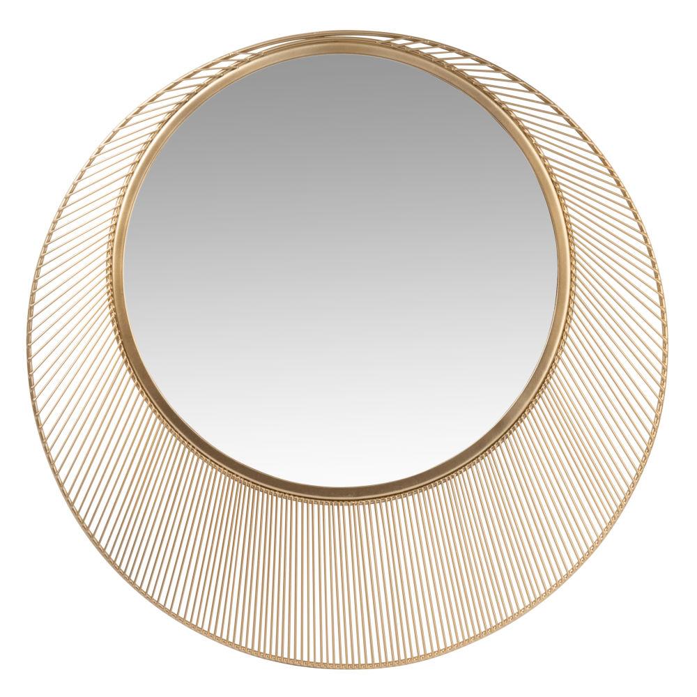 Miroir rond en métal irisé D50