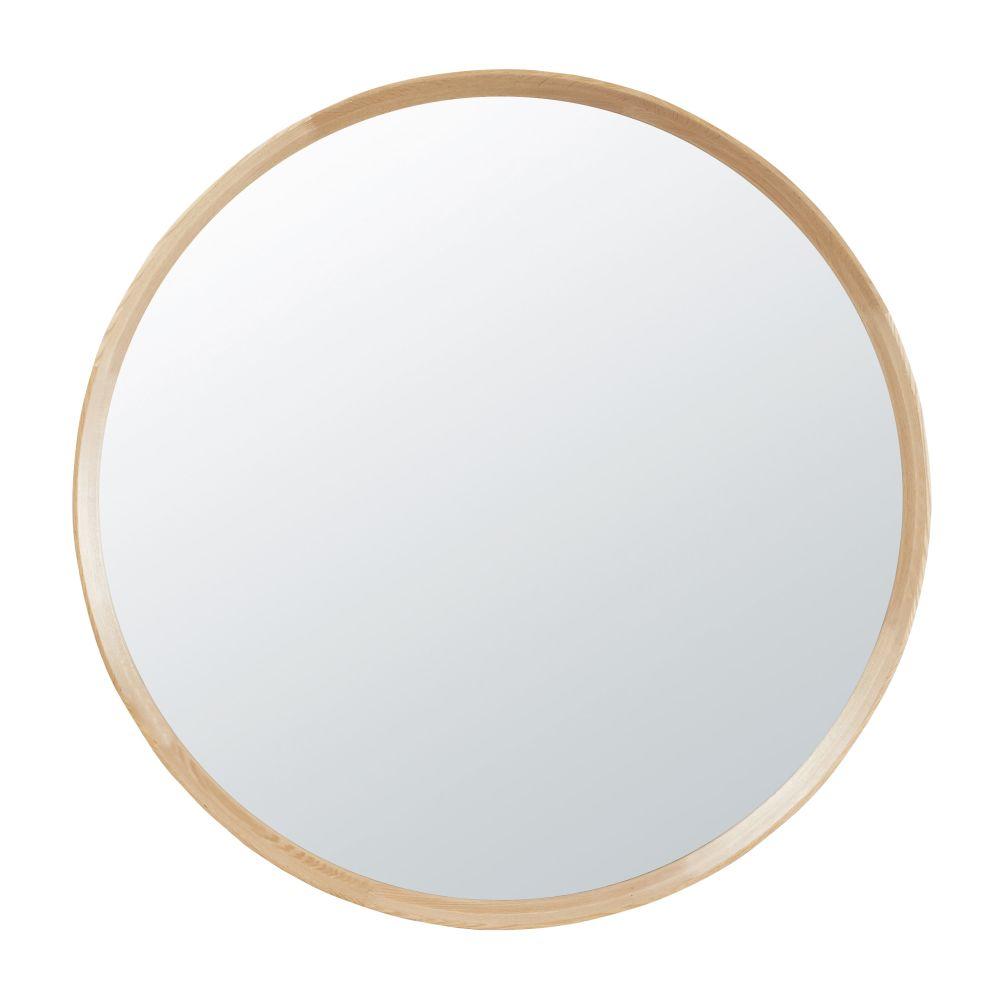 Miroir rond en paulownia D100