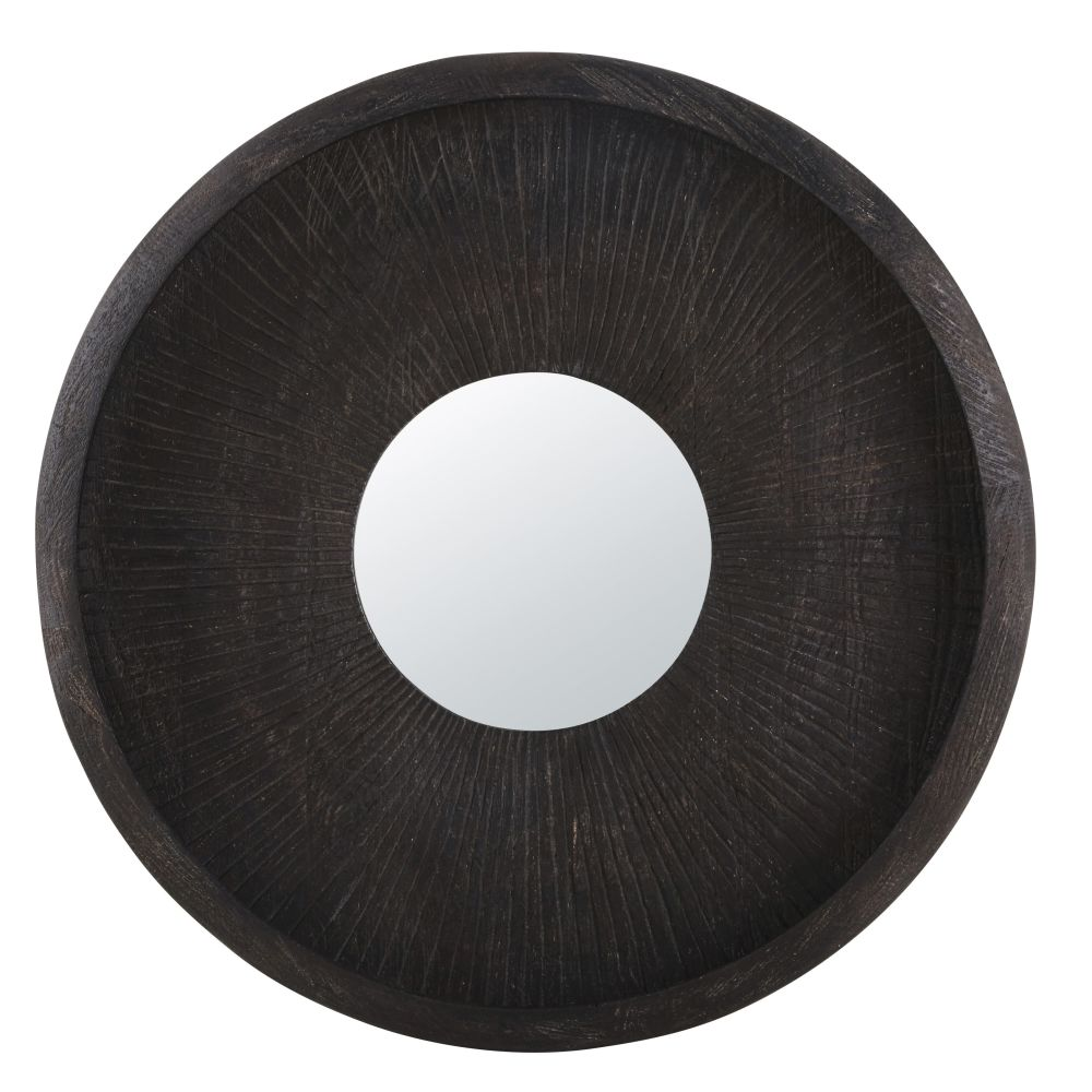 Miroir rond gravé D84