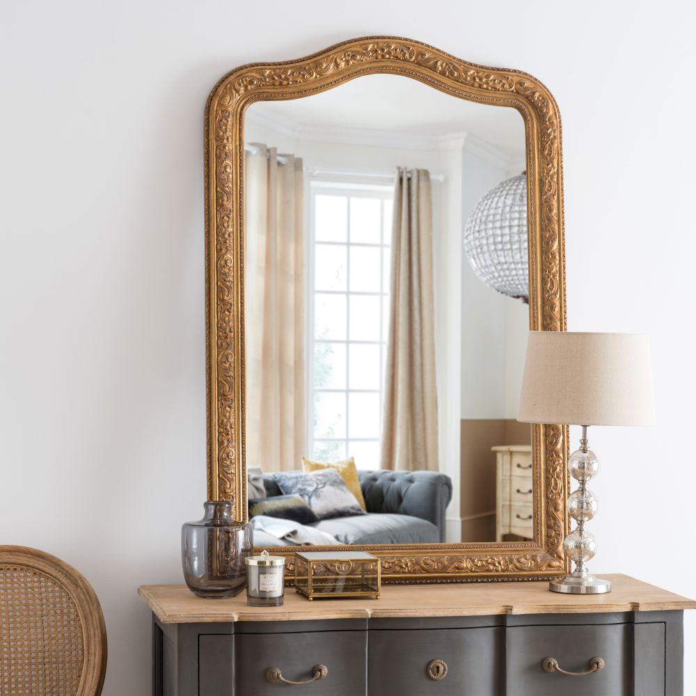 Miroir sculpté doré 80x120