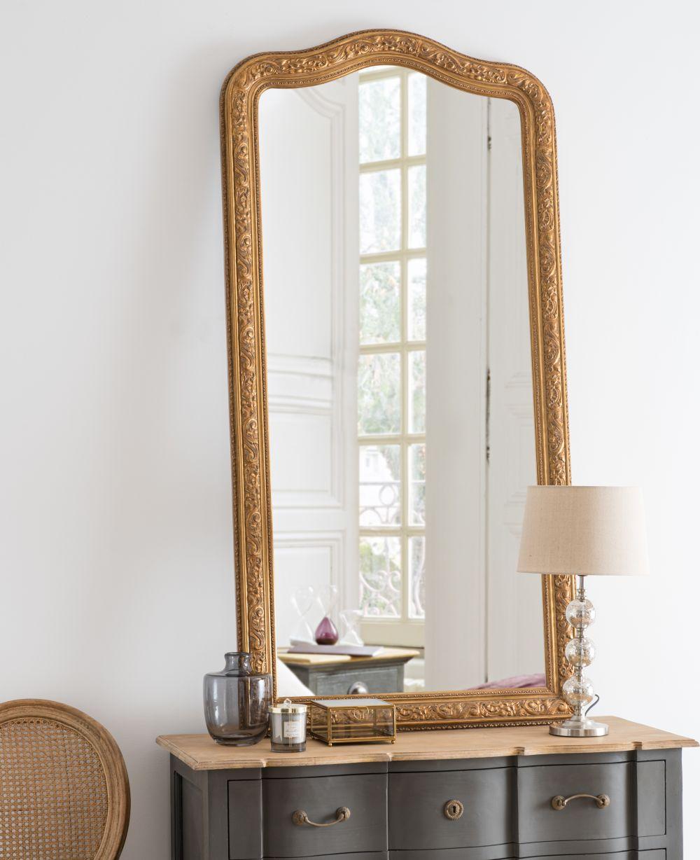 Miroir sculpté doré 80x160