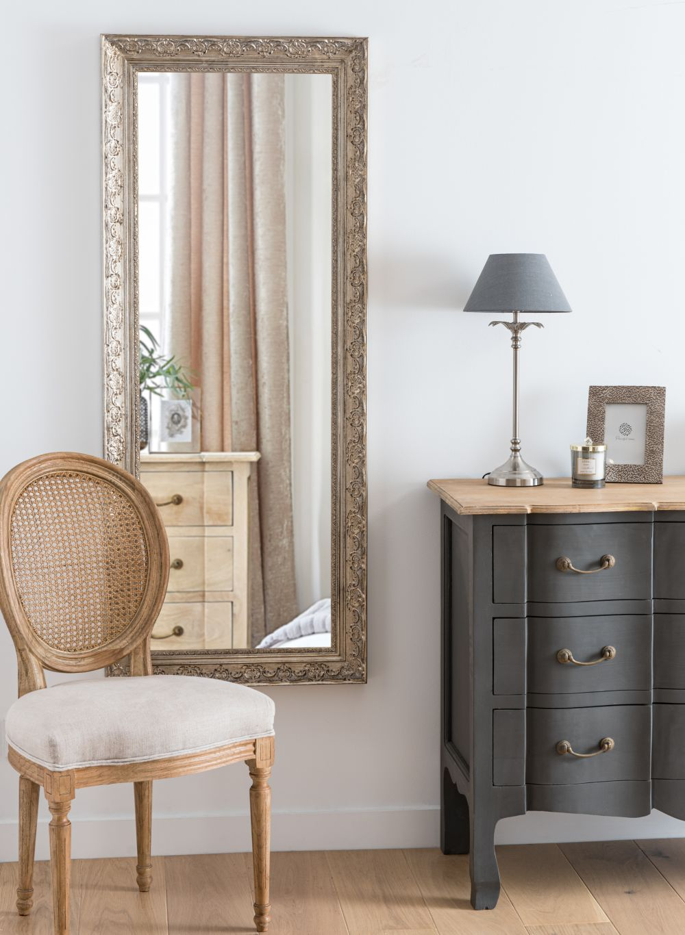 Miroir sculpté irisé 59x145