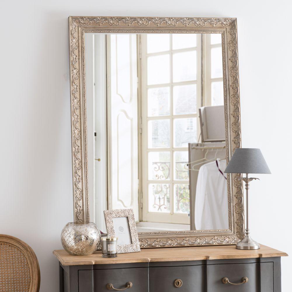 Miroir sculpté irisé 90x120