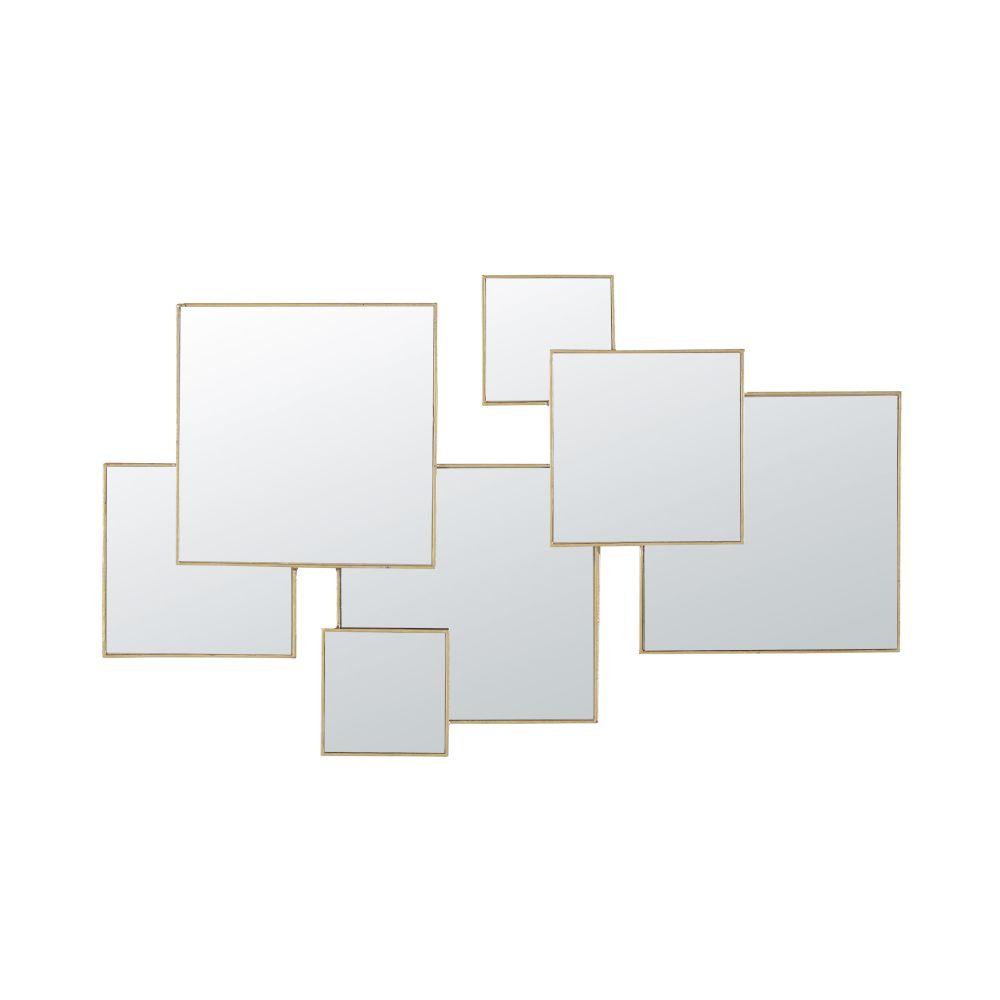 Miroirs en métal doré 120x72