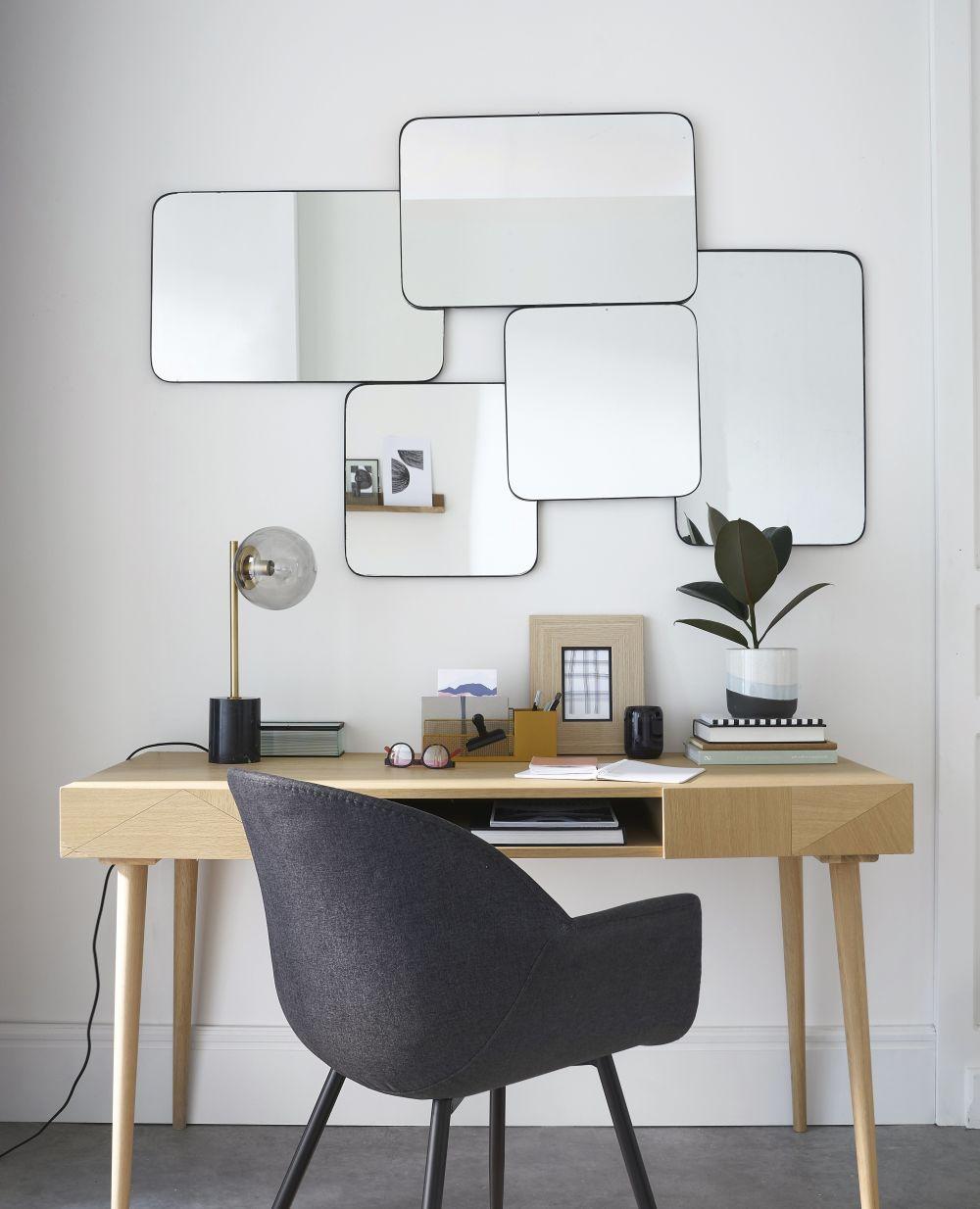 Miroirs en métal noir 147x95