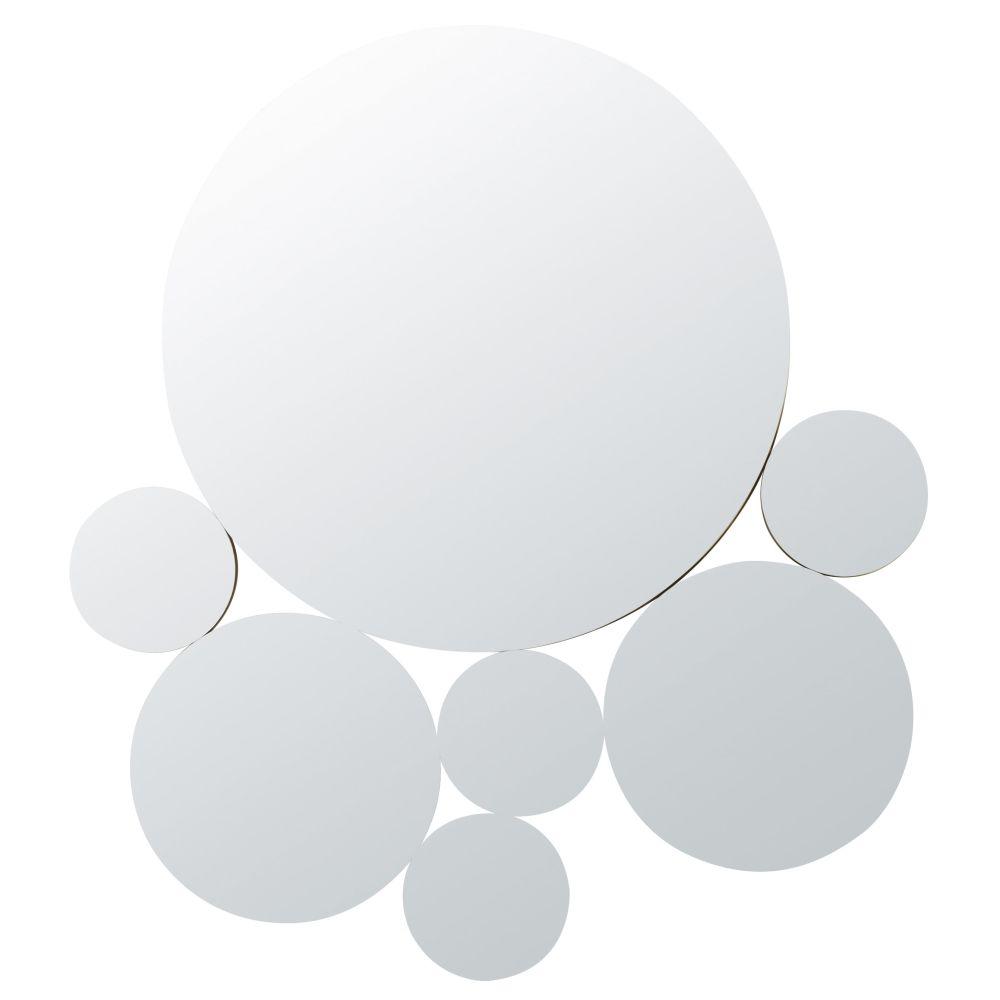 Miroirs ronds en métal doré 84x93