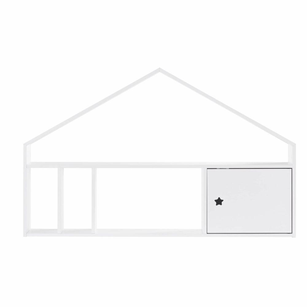 Module de rangement pour bureau 1 porte blanc