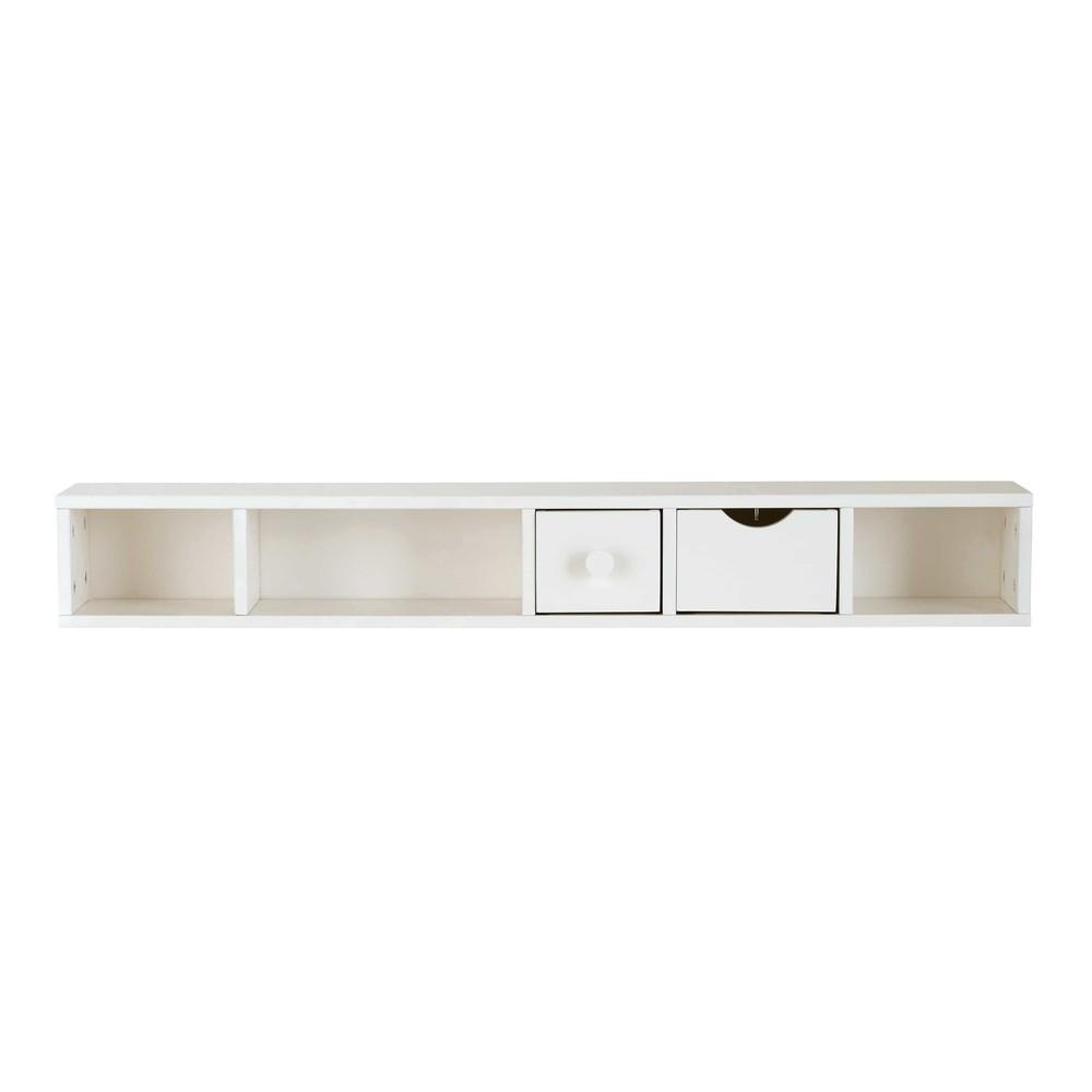 Module de rangement pour bureau 2 tiroirs blanc