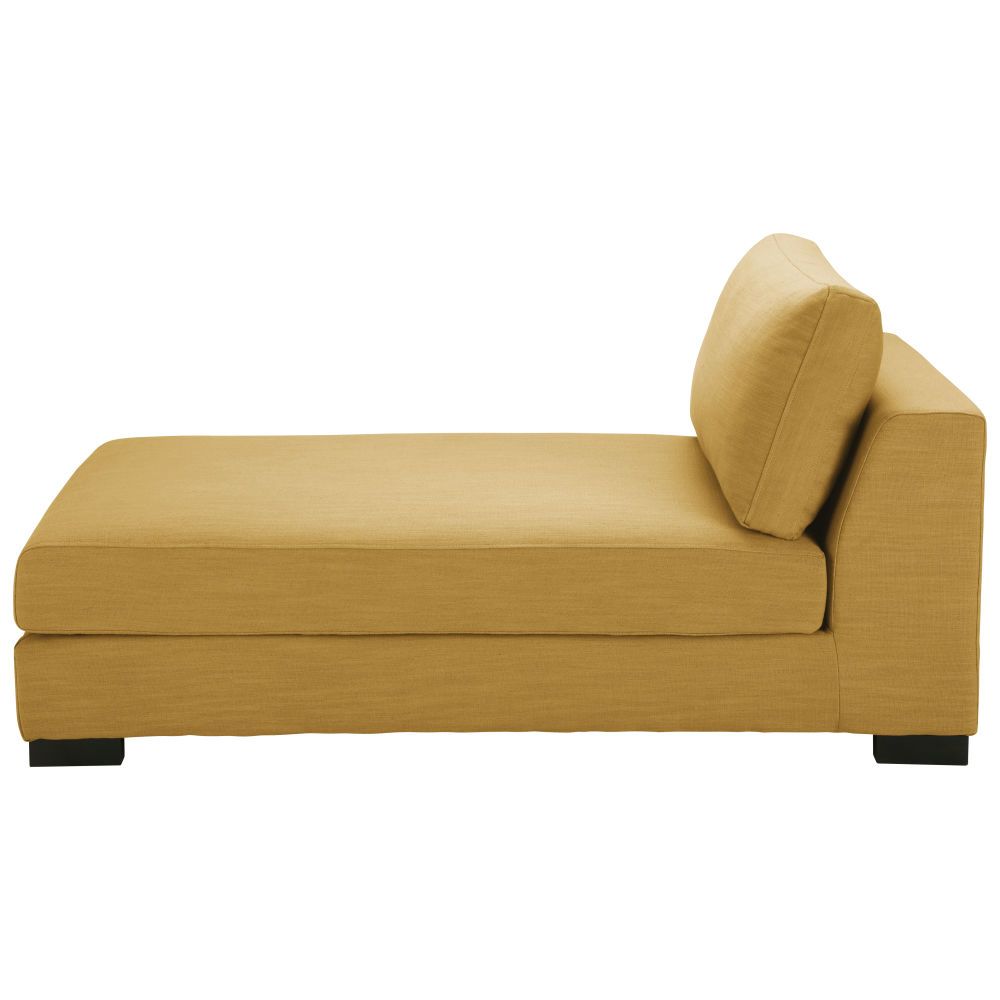 Mosterdgele Moduleerbare Chaise Longue