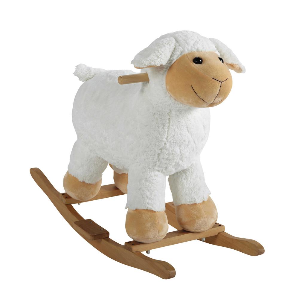 Mouton à bascule en bois H 60 cm