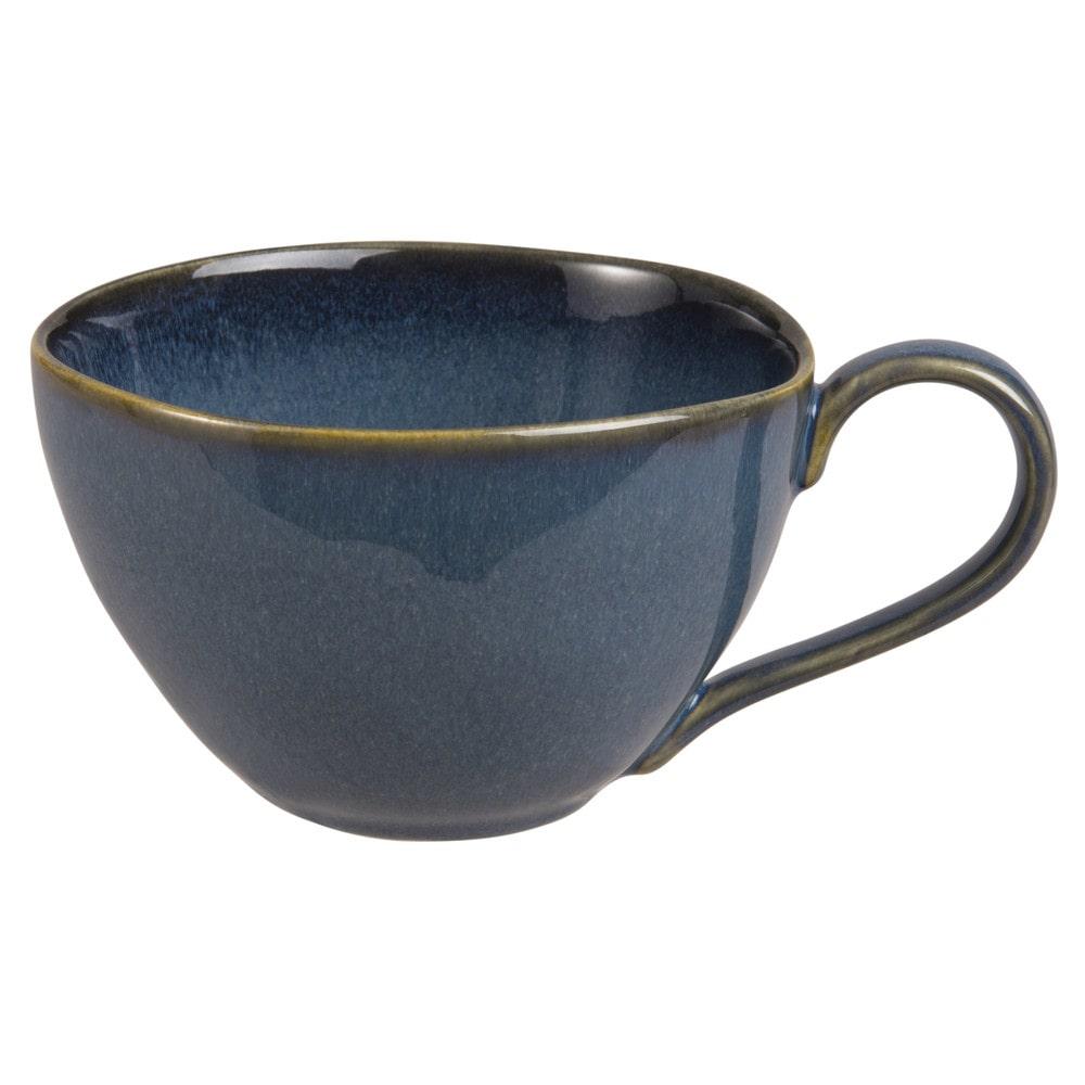 Mug en faïence bleue