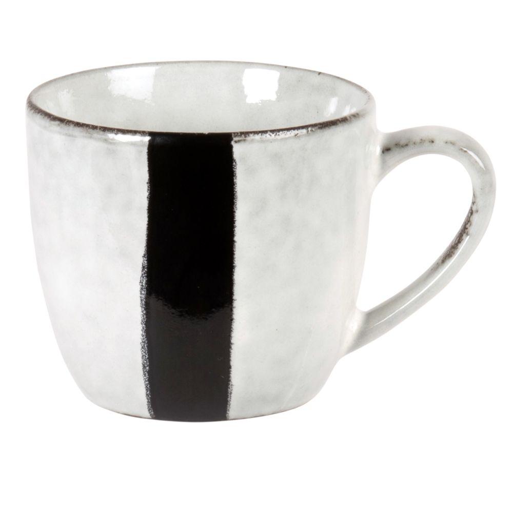 Mug en grès gris et noir