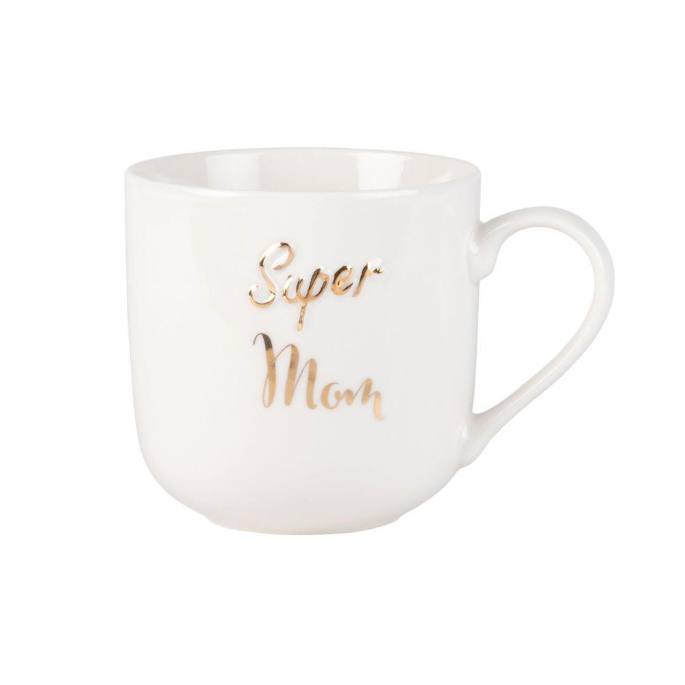 Mug en porcelaine blanche imprimée
