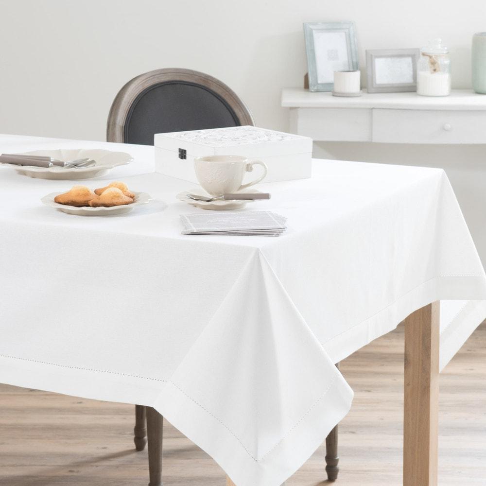 Nappe en coton écru 150 x 350 cm