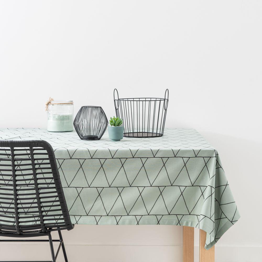 Nappe en coton motifs géométriques 130x210