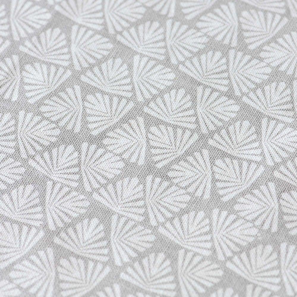 Nappe enduite à motifs beiges et gris anthracite 140x250