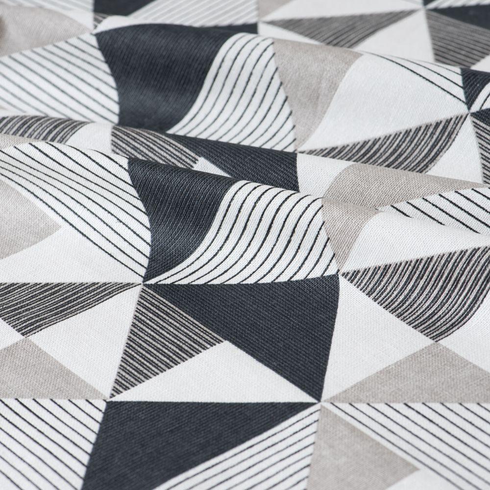 Nappe enduite en coton motifs géométriques 130x210