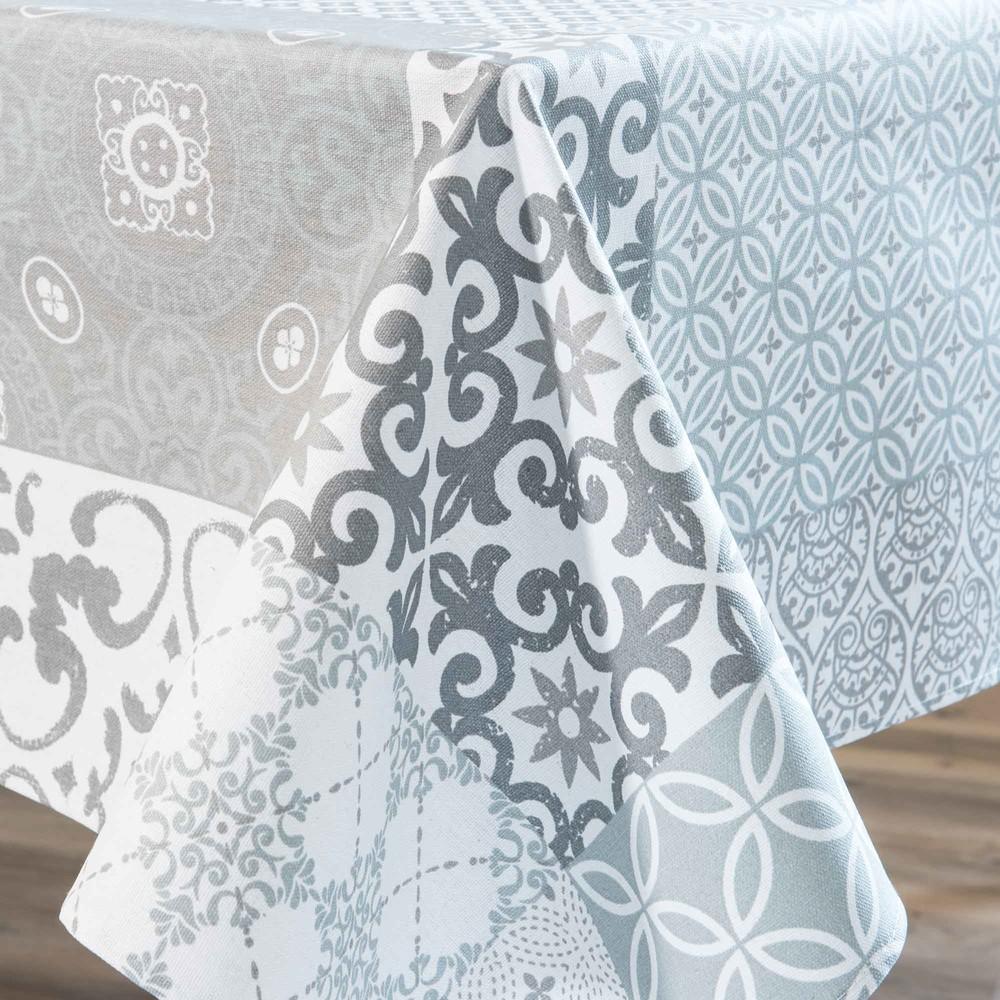Nappe enduite grise motifs carreaux de ciment 178x178