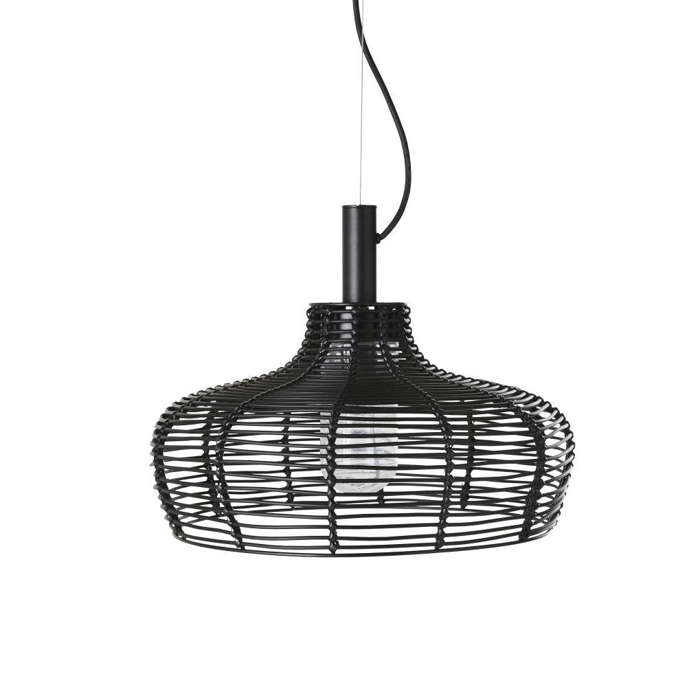 Nomadische Buitenhanglamp Met Zwart Vlechtwerk