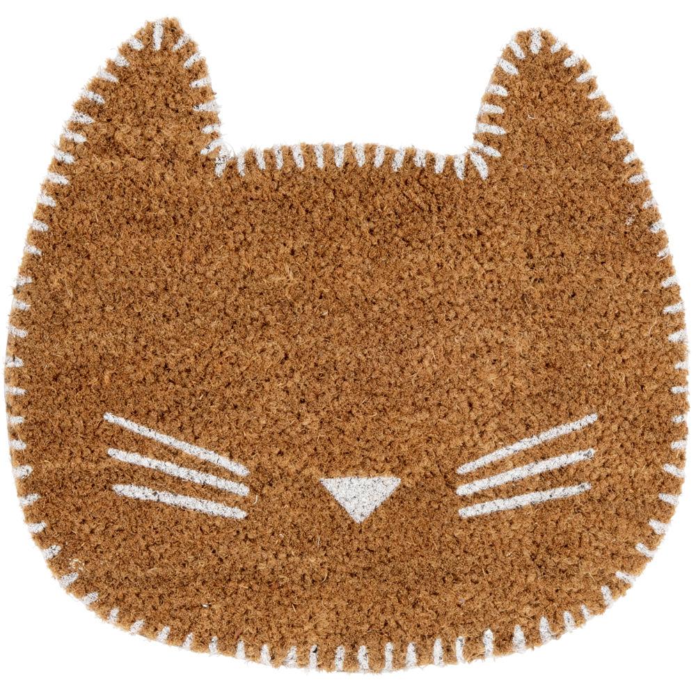 Paillasson chat marron 40x38