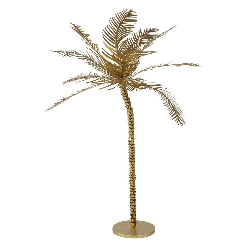 Palmier déco en métal doré H137