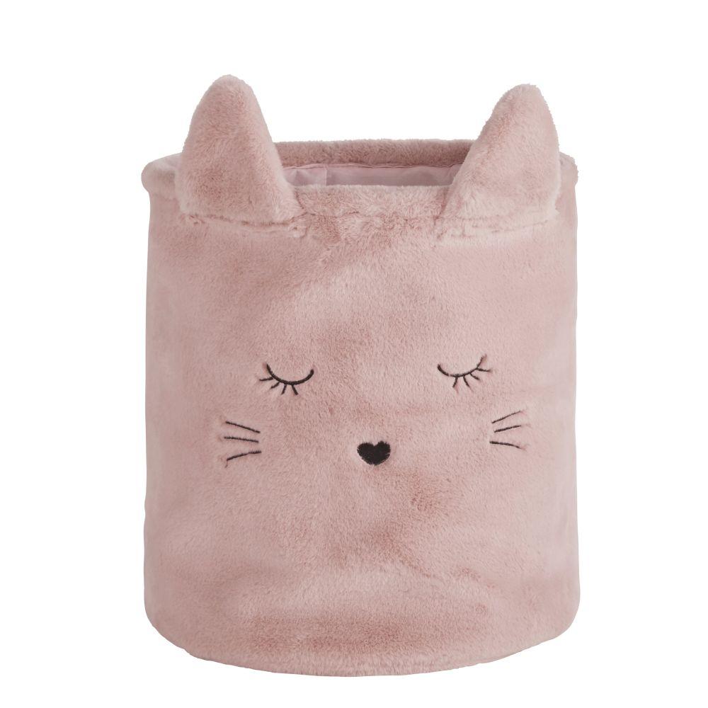Panier chat rose et doré