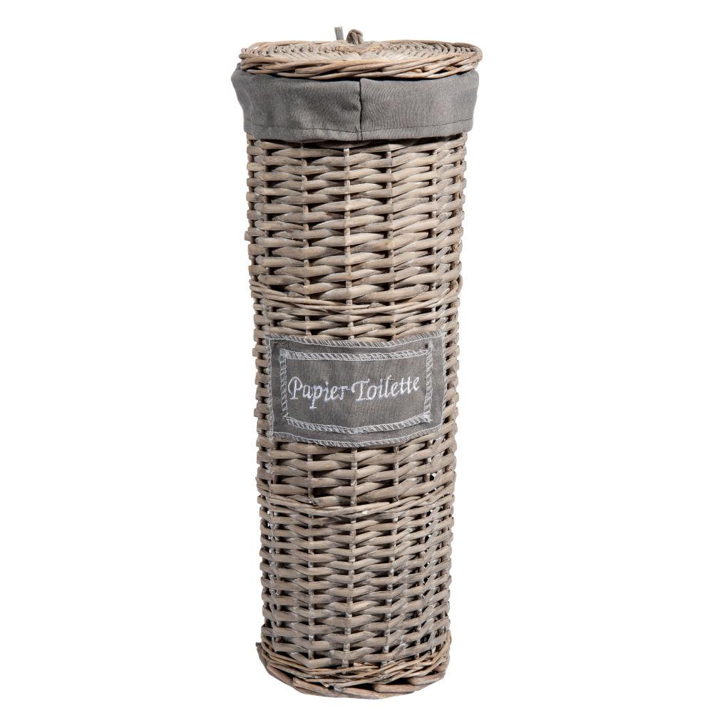 Panier tressé à papier toilette H 47 cm