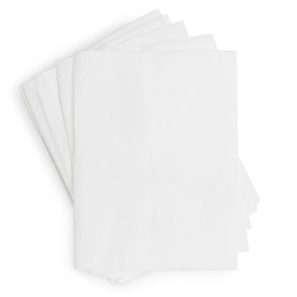 Paquet de 100 serviettes en papier blanches 7 x 12 cm