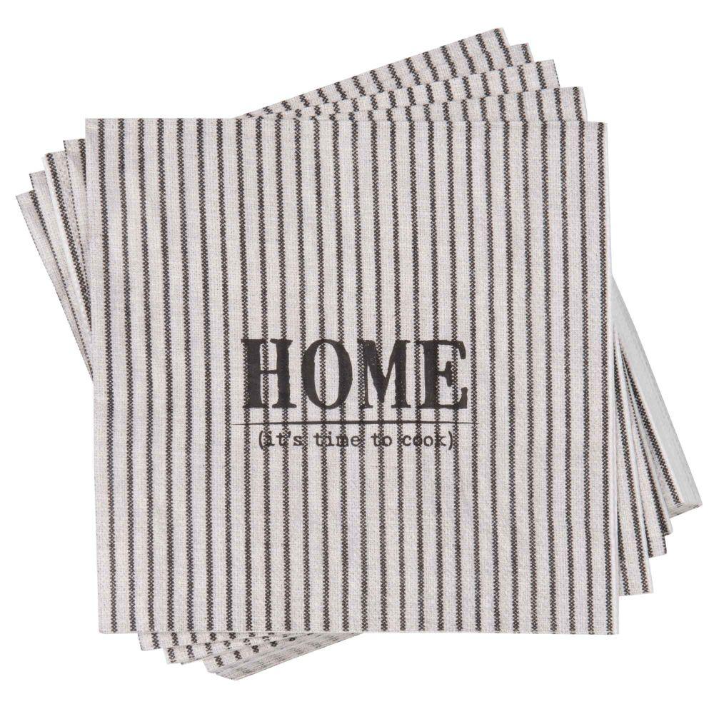 Paquet de 20 serviettes en papier motifs à rayures