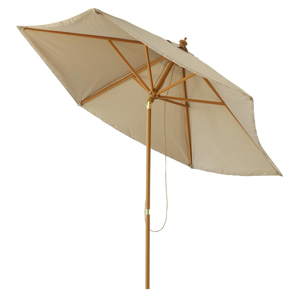 Parasol inclinable en tissu et aluminium taupe