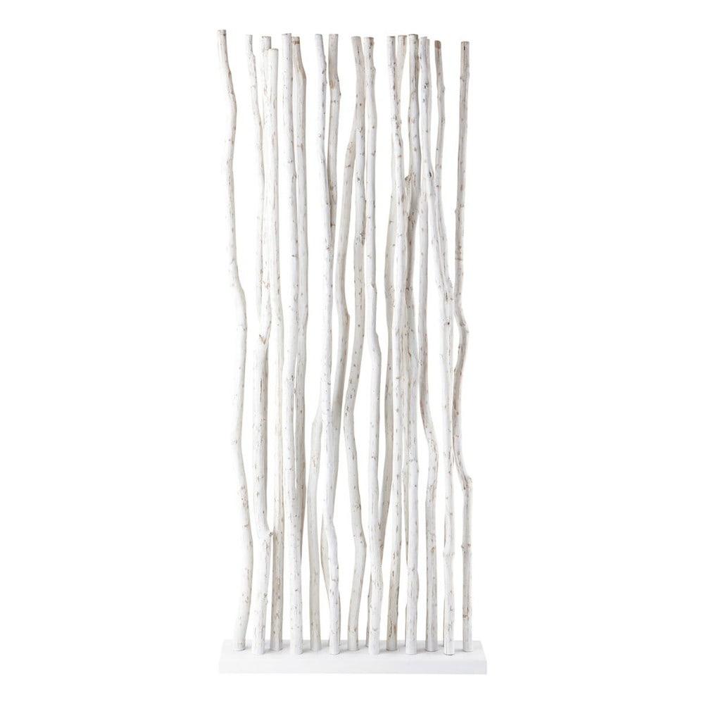 Paravent en teck blanc L 87 cm