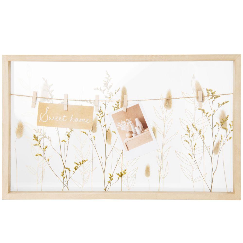 Pêle-mêle avec fleurs séchées 50x30