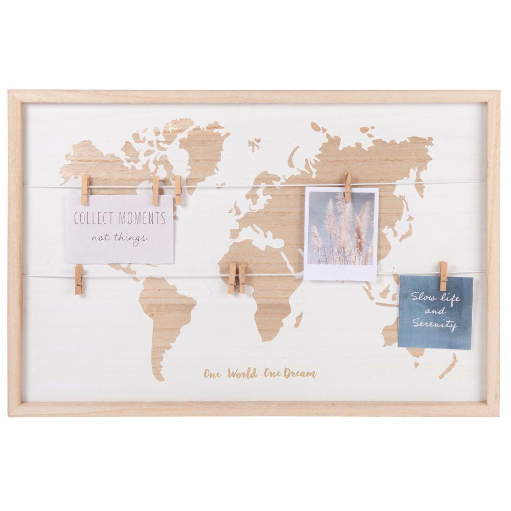 Pêle-mêle carte du monde 60x40