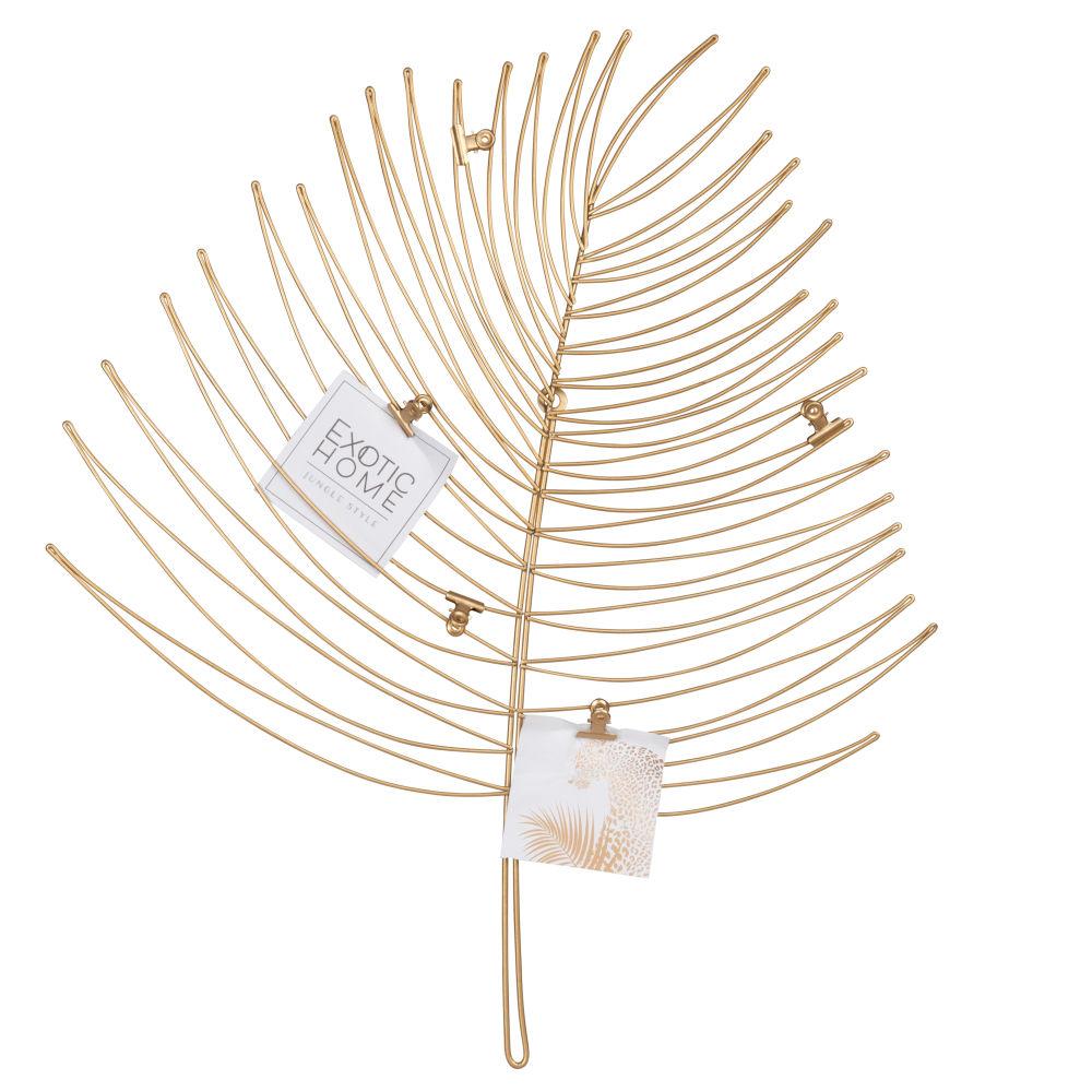 Pêle-mêle feuille en métal doré 44x53