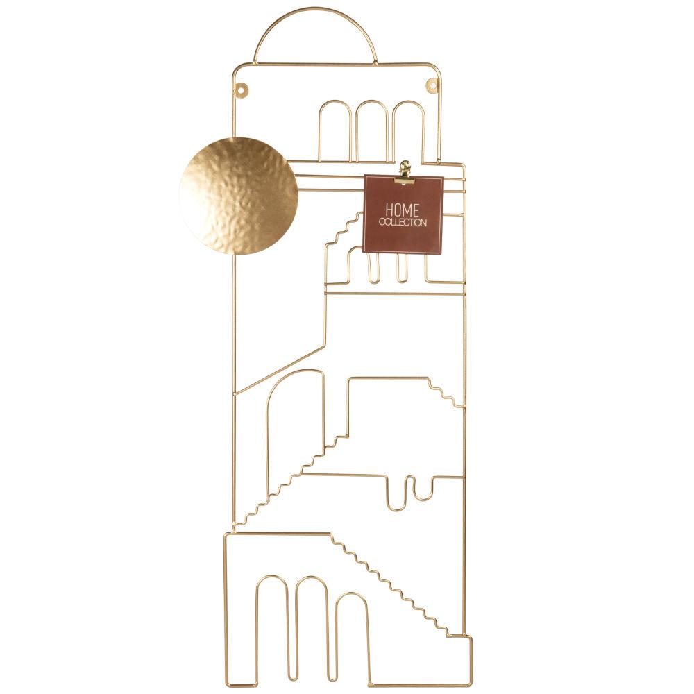 Pêle-mêle filaire en métal doré 29x70