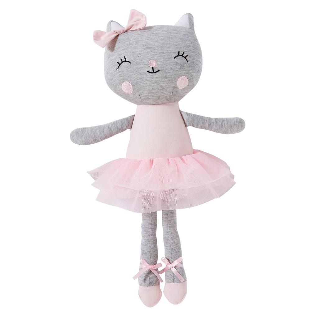 Peluche chat ballerine en coton