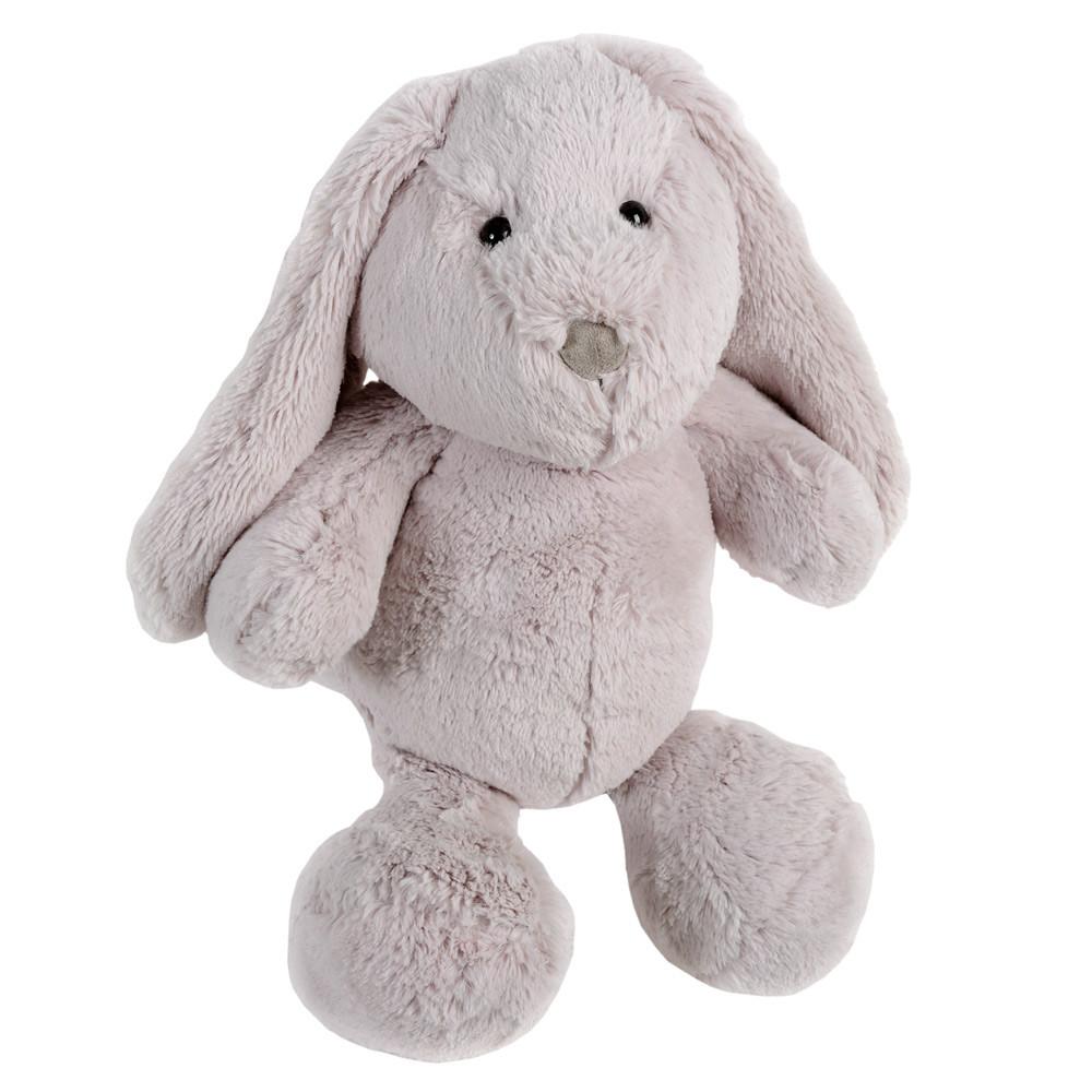 Peluche enfant lapin grise H 35 cm